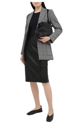 Женская кожаная юбка BOSS черного цвета, арт. 50436132 | Фото 2