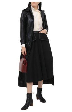 Женские кожаные ботильоны LOEWE черного цвета, арт. L815286X04   Фото 2