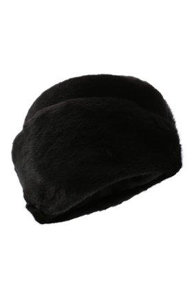 Женская шапка из меха норки KUSSENKOVV черного цвета, арт. 131512802411 | Фото 1