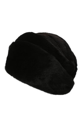 Женская шапка из меха норки KUSSENKOVV черного цвета, арт. 131512802411 | Фото 2