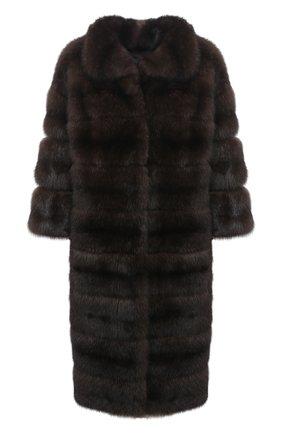 Женская шуба из меха соболя KUSSENKOVV коричневого цвета, арт. 703500003431 | Фото 1