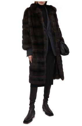 Женская шуба из меха соболя KUSSENKOVV коричневого цвета, арт. 703500003431 | Фото 2