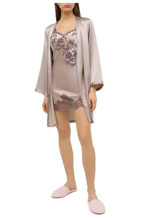 Женская шелковая сорочка MARJOLAINE светло-серого цвета, арт. 3GEM0120   Фото 2