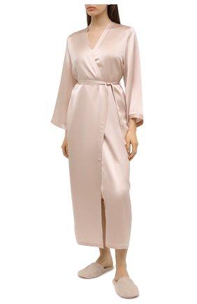 Женский халат MARJOLAINE светло-бежевого цвета, арт. Laurian | Фото 2