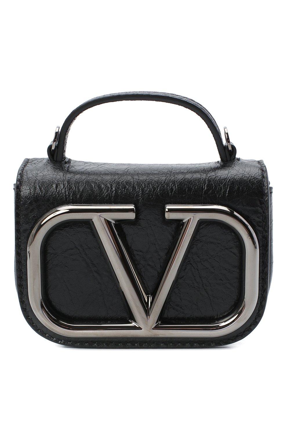 Женская сумка supervee VALENTINO черного цвета, арт. UW0P0U95/JHG   Фото 1