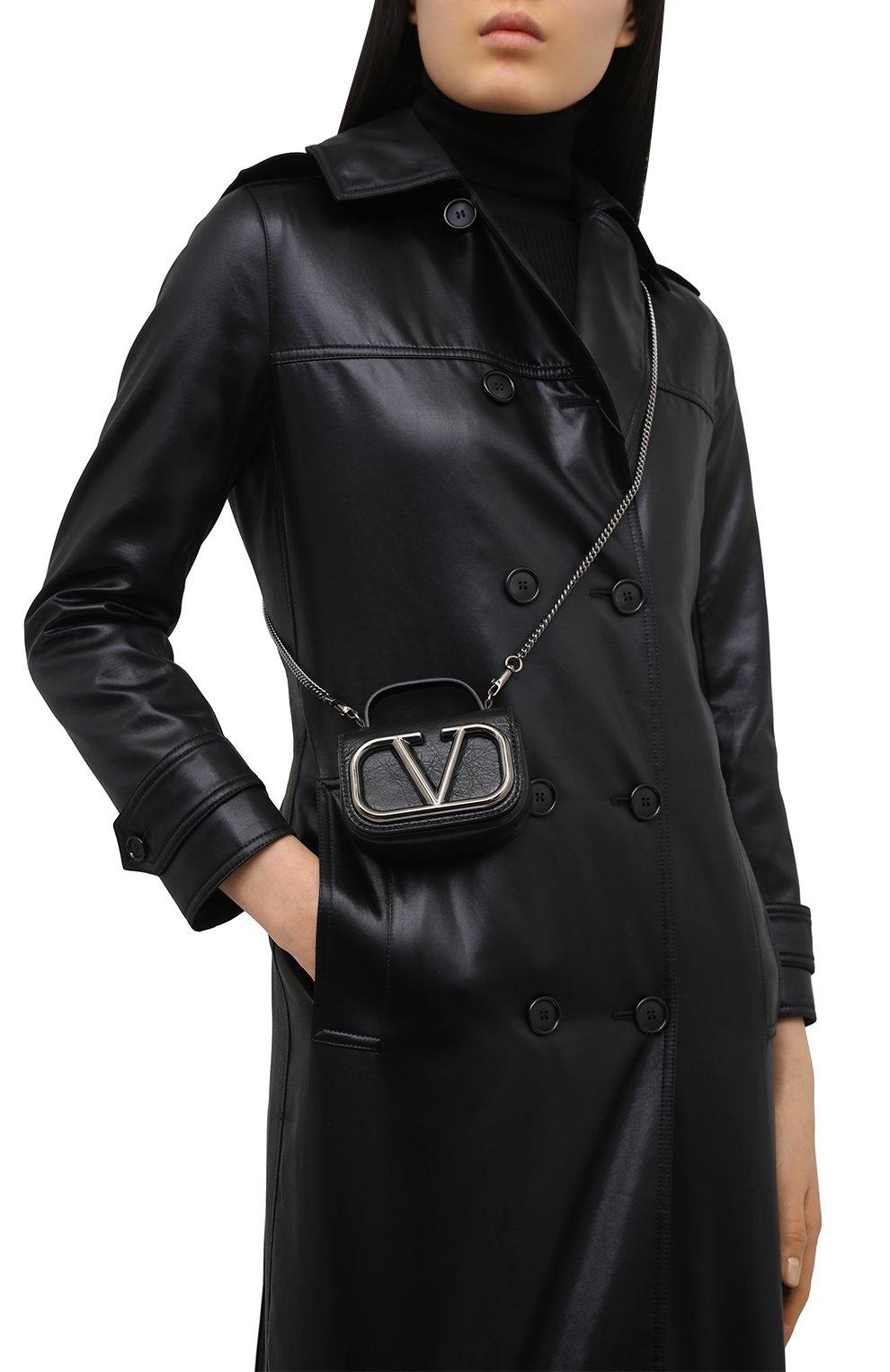 Женская сумка supervee VALENTINO черного цвета, арт. UW0P0U95/JHG   Фото 5