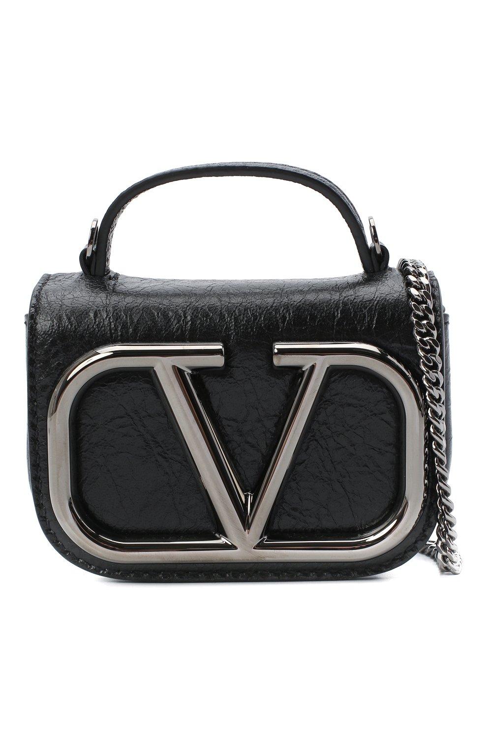 Женская сумка supervee VALENTINO черного цвета, арт. UW0P0U95/JHG   Фото 6