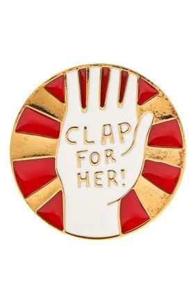 Женская значок CHLOÉ разноцветного цвета, арт. CHC20WFP06BZL | Фото 1 (Материал: Металл)