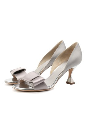 Женские текстильные туфли GIORGIO ARMANI светло-серого цвета, арт. X1PA16/XM912 | Фото 1