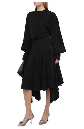 Женские текстильные туфли GIORGIO ARMANI светло-серого цвета, арт. X1PA16/XM912 | Фото 2