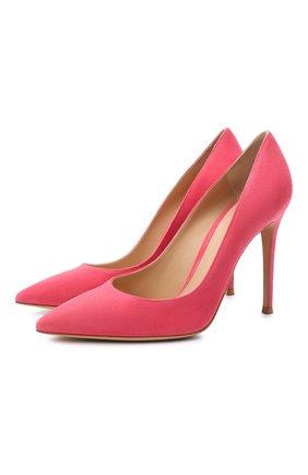 Женские замшевые туфли gianvito 105 GIANVITO ROSSI розового цвета, арт. G28470.15RIC.CAMRUR0   Фото 1