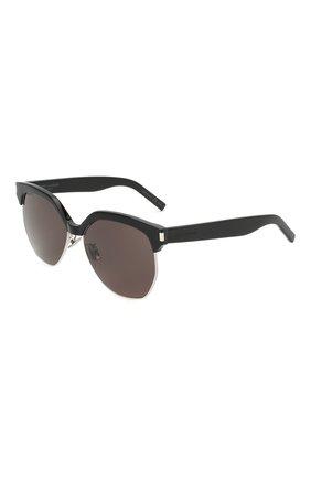 Женские солнцезащитные очки SAINT LAURENT черного цвета, арт. SL 408 | Фото 1