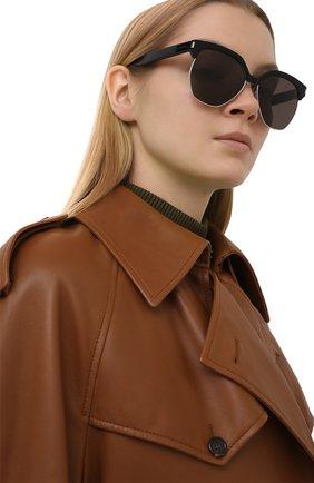Женские солнцезащитные очки SAINT LAURENT черного цвета, арт. SL 408 | Фото 2