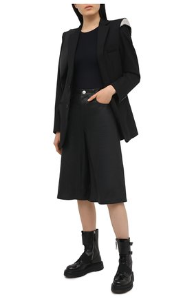 Женские кожаные шорты RAG&BONE черного цвета, арт. WCW20F7004LE04 | Фото 2