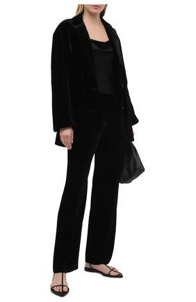 Женские брюки из вискозы и шелка DOROTHEE SCHUMACHER черного цвета, арт. 147901/VELVET SHIMMER | Фото 2