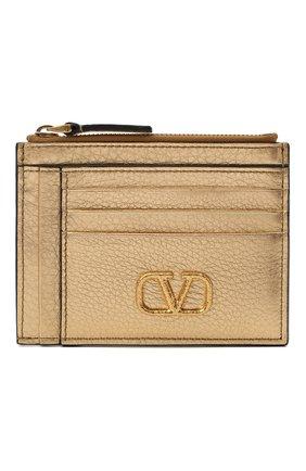 Женский кожаный футляр для кредитных карт valentino garavani VALENTINO бронзового цвета, арт. VW2P0U24/NFI | Фото 1