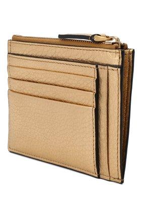 Женский кожаный футляр для кредитных карт valentino garavani VALENTINO бронзового цвета, арт. VW2P0U24/NFI | Фото 2