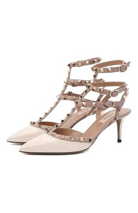 Женские кожаные туфли valentino garavani rockstud VALENTINO белого цвета, арт. VW2S0375/VNW   Фото 1