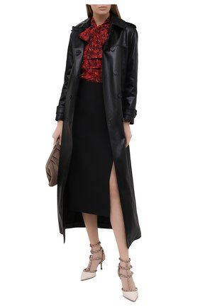 Женские кожаные туфли valentino garavani rockstud VALENTINO белого цвета, арт. VW2S0375/VNW   Фото 2