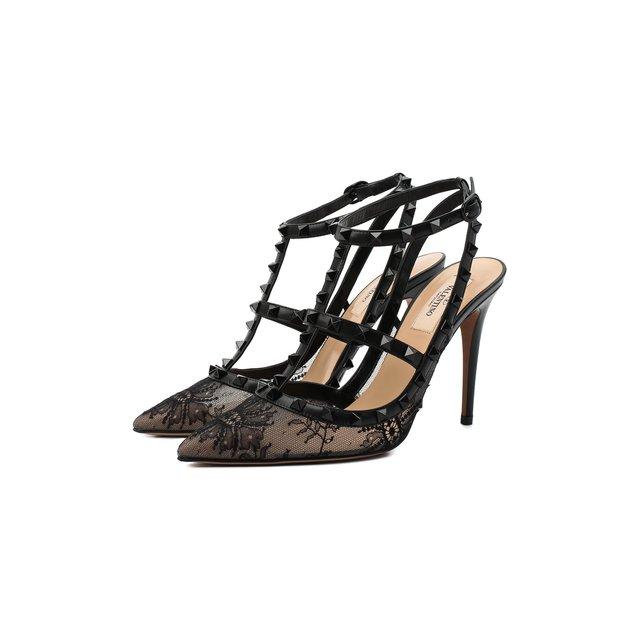 Текстильные туфли Rockstud Valentino