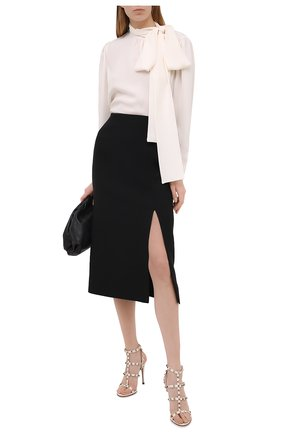 Женские кожаные босоножки valentino garavani rockstud VALENTINO белого цвета, арт. VW2S0A27/V0D | Фото 2