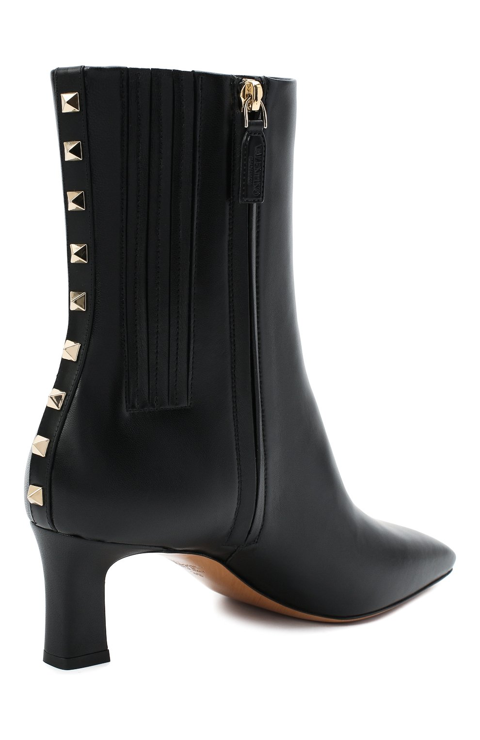 Женские кожаные ботильоны valentino garavani rockstud VALENTINO черного цвета, арт. VW2S0BA7/XGR | Фото 4