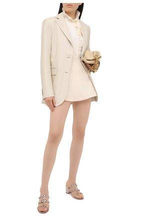 Женские кожаные мюли rockstud VALENTINO серебряного цвета, арт. VW2S0C47/JXH | Фото 2 (Подошва: Плоская; Каблук высота: Средний; Материал внутренний: Натуральная кожа; Каблук тип: Устойчивый)