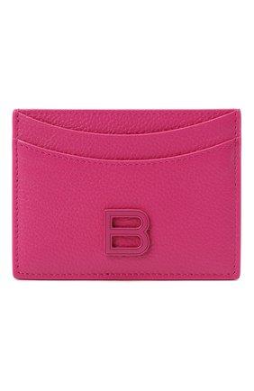 Женский кожаный футляр для кредитных карт BALENCIAGA фуксия цвета, арт. 637370/1IZYK | Фото 1