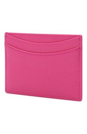 Женский кожаный футляр для кредитных карт BALENCIAGA фуксия цвета, арт. 637370/1IZYK | Фото 2