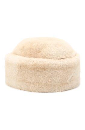 Женская шапка джулия из меха норки FURLAND бежевого цвета, арт. 0034602110039300000   Фото 1