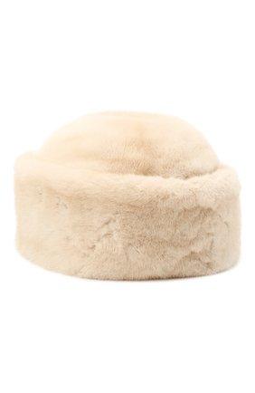 Женская шапка джулия из меха норки FURLAND бежевого цвета, арт. 0034602110039300000   Фото 2