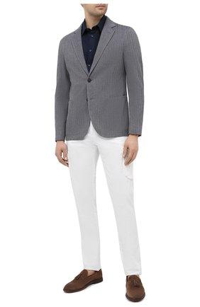 Мужская льняная рубашка GIORGIO ARMANI темно-синего цвета, арт. 8WGCCZ1V/TZ256 | Фото 2