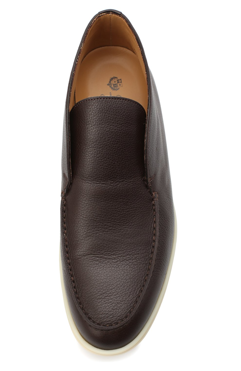 Мужские кожаные ботинки open walk LORO PIANA темно-коричневого цвета, арт. FAL0319 | Фото 5