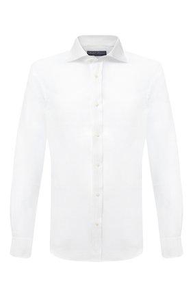 Мужская льняная рубашка RALPH LAUREN белого цвета, арт. 790587253 | Фото 1