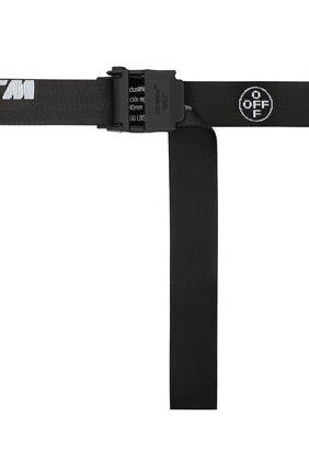 Мужской текстильный ремень OFF-WHITE черного цвета, арт. 0MRB034R21FAB001 | Фото 4 (Материал: Текстиль, Синтетический материал; Случай: Повседневный)
