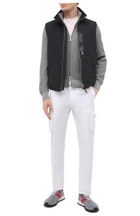Мужские текстильные кроссовки KITON серого цвета, арт. USSKDTMN00822 | Фото 2 (Стили: Спорт; Материал внешний: Текстиль; Подошва: Массивная; Материал внутренний: Натуральная кожа)