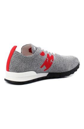 Мужские текстильные кроссовки KITON серого цвета, арт. USSKDTMN00822   Фото 4