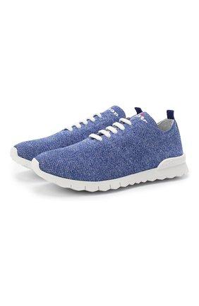 Мужские текстильные кроссовки KITON голубого цвета, арт. DSSKD0TN00819 | Фото 1
