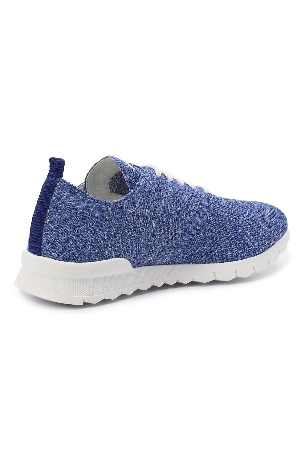 Мужские текстильные кроссовки KITON голубого цвета, арт. DSSKD0TN00819 | Фото 3