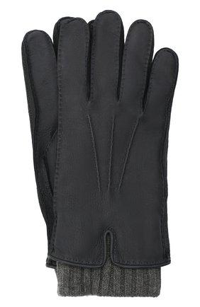 Мужские кожаные перчатки LORO PIANA темно-серого цвета, арт. FAG4758 | Фото 1