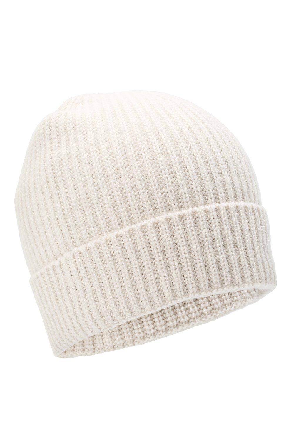 Мужская кашемировая шапка BRIONI белого цвета, арт. 04M80L/09K38   Фото 1