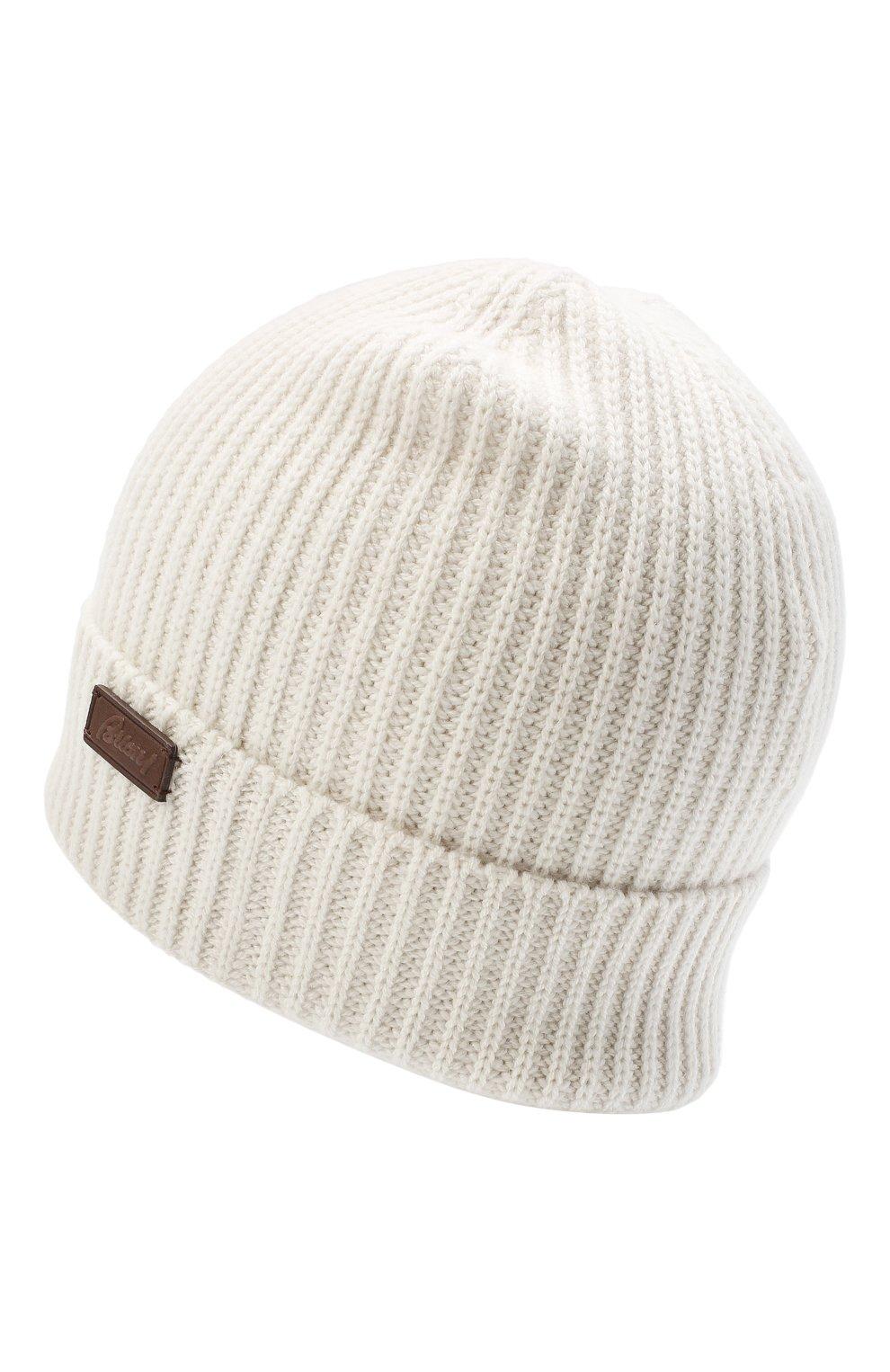 Мужская кашемировая шапка BRIONI белого цвета, арт. 04M80L/09K38   Фото 2