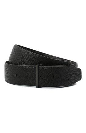 Мужской кожаный ремень TOM FORD черного цвета, арт. TB178I-LCL050 | Фото 1