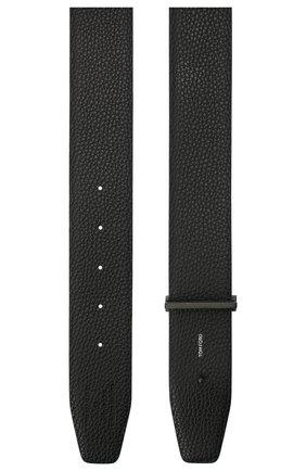 Мужской кожаный ремень TOM FORD черного цвета, арт. TB178I-LCL050 | Фото 2