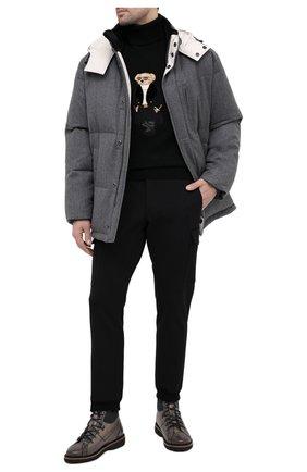 Мужские джоггеры RALPH LAUREN черного цвета, арт. 790837849 | Фото 2 (Материал внешний: Синтетический материал; Длина (брюки, джинсы): Стандартные; Силуэт М (брюки): Джоггеры; Стили: Спорт-шик)