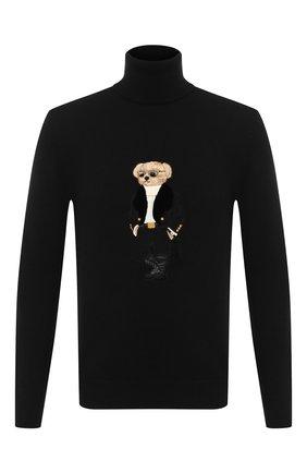 Мужской кашемировый свитер RALPH LAUREN черного цвета, арт. 790837848 | Фото 1