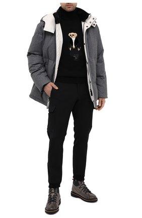 Мужской кашемировый свитер RALPH LAUREN черного цвета, арт. 790837848 | Фото 2