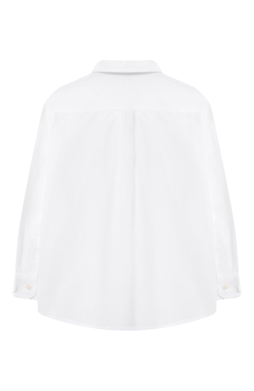 Детский хлопковая рубашка DOLCE & GABBANA белого цвета, арт. L13S14/G7YFM | Фото 2