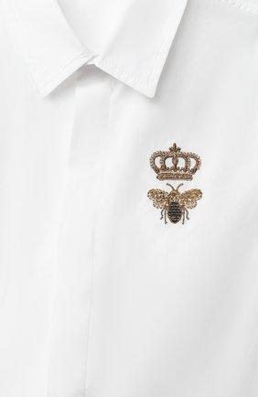 Детский хлопковая рубашка DOLCE & GABBANA белого цвета, арт. L13S14/G7YFM | Фото 3