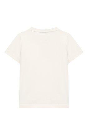 Детского комплект из футболки и шорт EMPORIO ARMANI белого цвета, арт. 3K4V06/4J4JZ | Фото 3 (Рукава: Короткие; Материал внешний: Хлопок; Мальчики Кросс-КТ: Костюмы-спорт; Ростовка одежда: 10 - 11 лет | 140 - 146см, 13 - 15 лет | 158 см, 16 лет | 164 см, 4 года | 104 см, 5 лет | 110 см, 6 лет | 116 см, 7 лет | 122 см, 8 лет | 128 см)